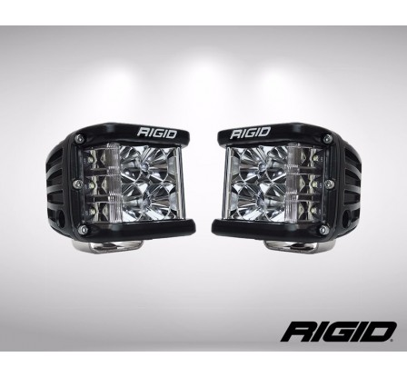 "JUEGO FAROS LED DUALLY D2 SERIES 3X3""-6 LED (2600 Lumens) 12/24V - DRIVING"