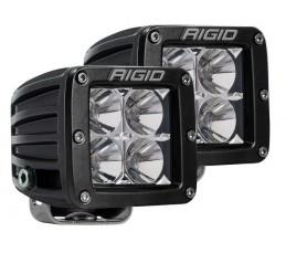 """JUEGO FAROS LED DUALLY SERIES 3X3"""" - 4 LED (1568 Lumens) - 12/24V - SPOT (HOM. CEE)"""