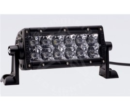 "FARO E-SERIES - 2 FILAS de LED 6"" (15cm) - 12 LED (2370 Lumens) - 12/24V - FLOOD"