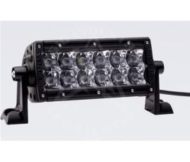 """FARO E-SERIES - 2 FILAS de LED 6"""" (15cm) - 12 LED (2370 Lumens) - 12/24V - SPOT (HOM. CEE)"""