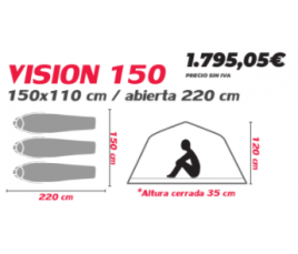 TIENDA LONA VISION 150